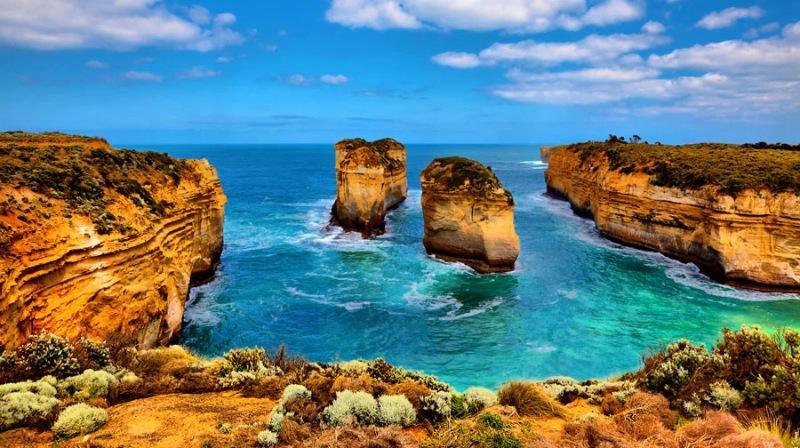 """Công viên thế giới Port Campbell sở hữu khối đá """"chạm khắc"""" bằng sóng và gió"""