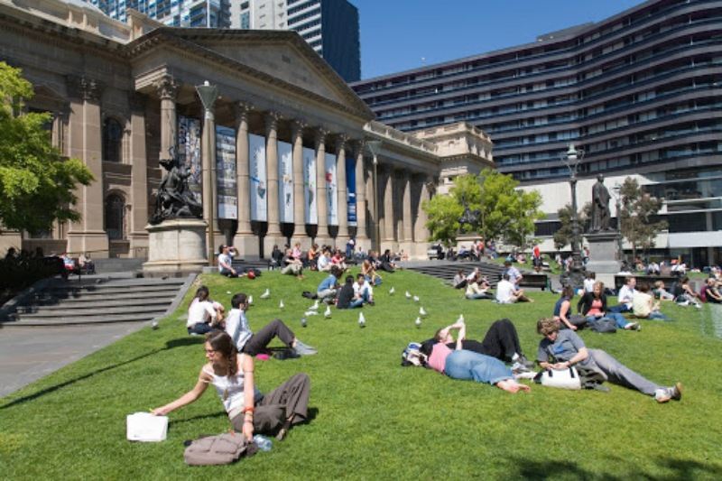 Cuộc sống đại học ở trường tại tiểu bang Victoria, Úc cực kỳ tốt